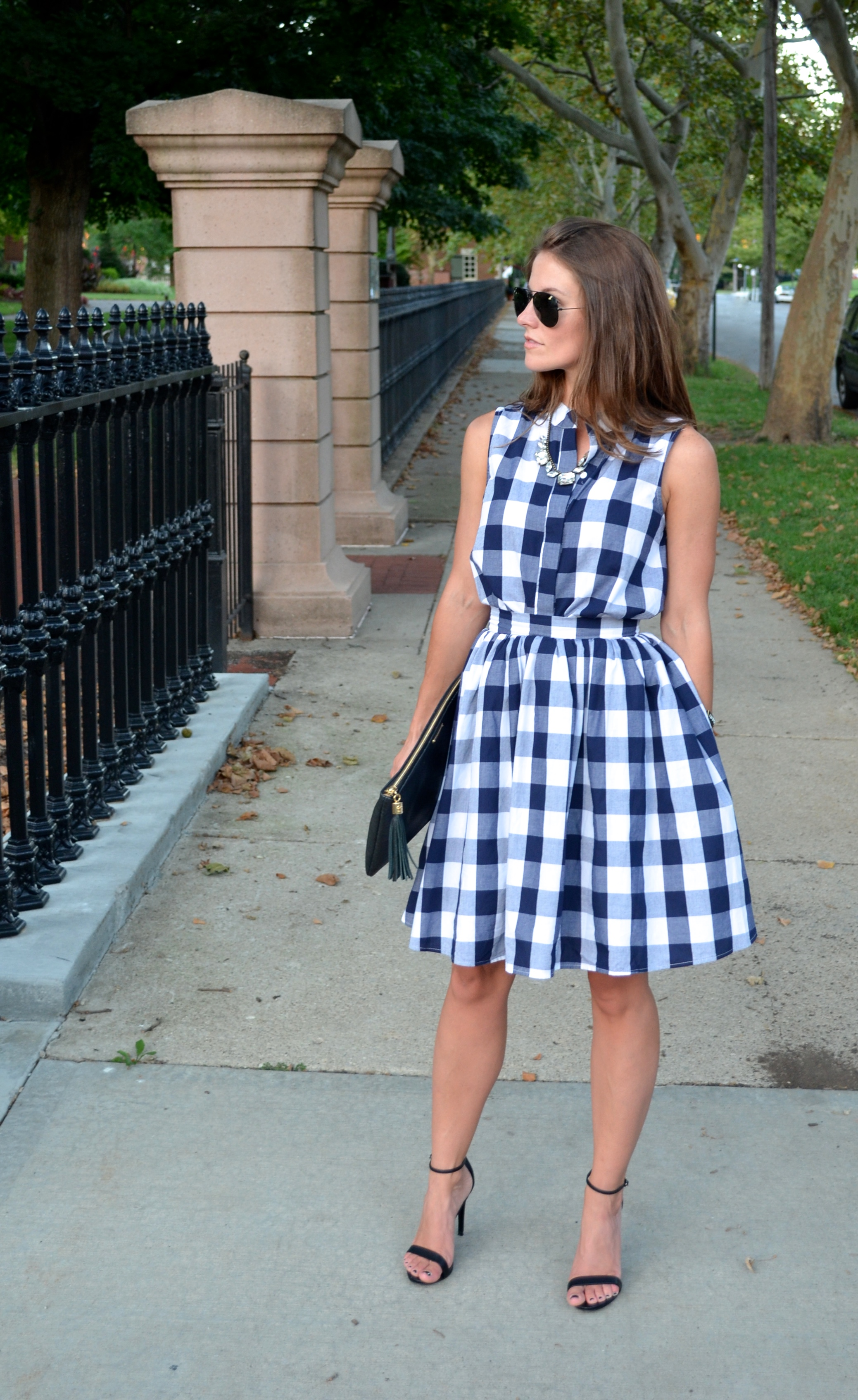 gingham dress outfit inspiration