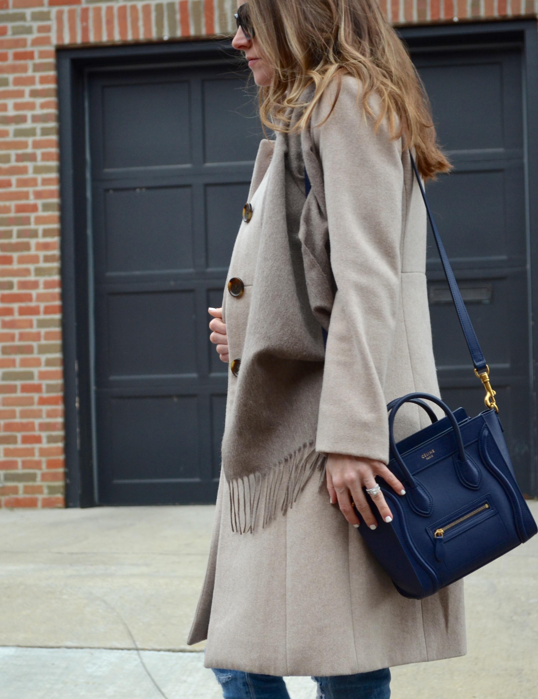 navy blue celine bag ysl scarf