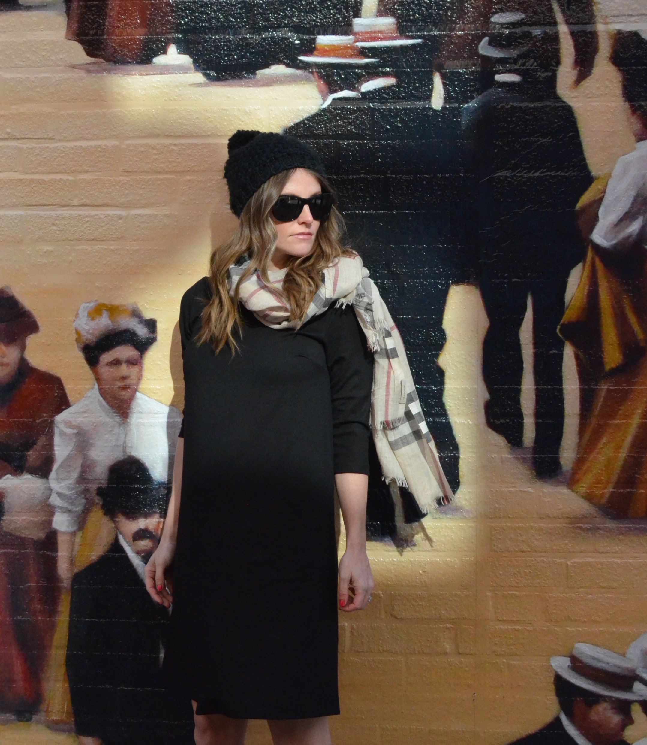 burberry scarf asos maternity dress pregnant blogger 30 weeks