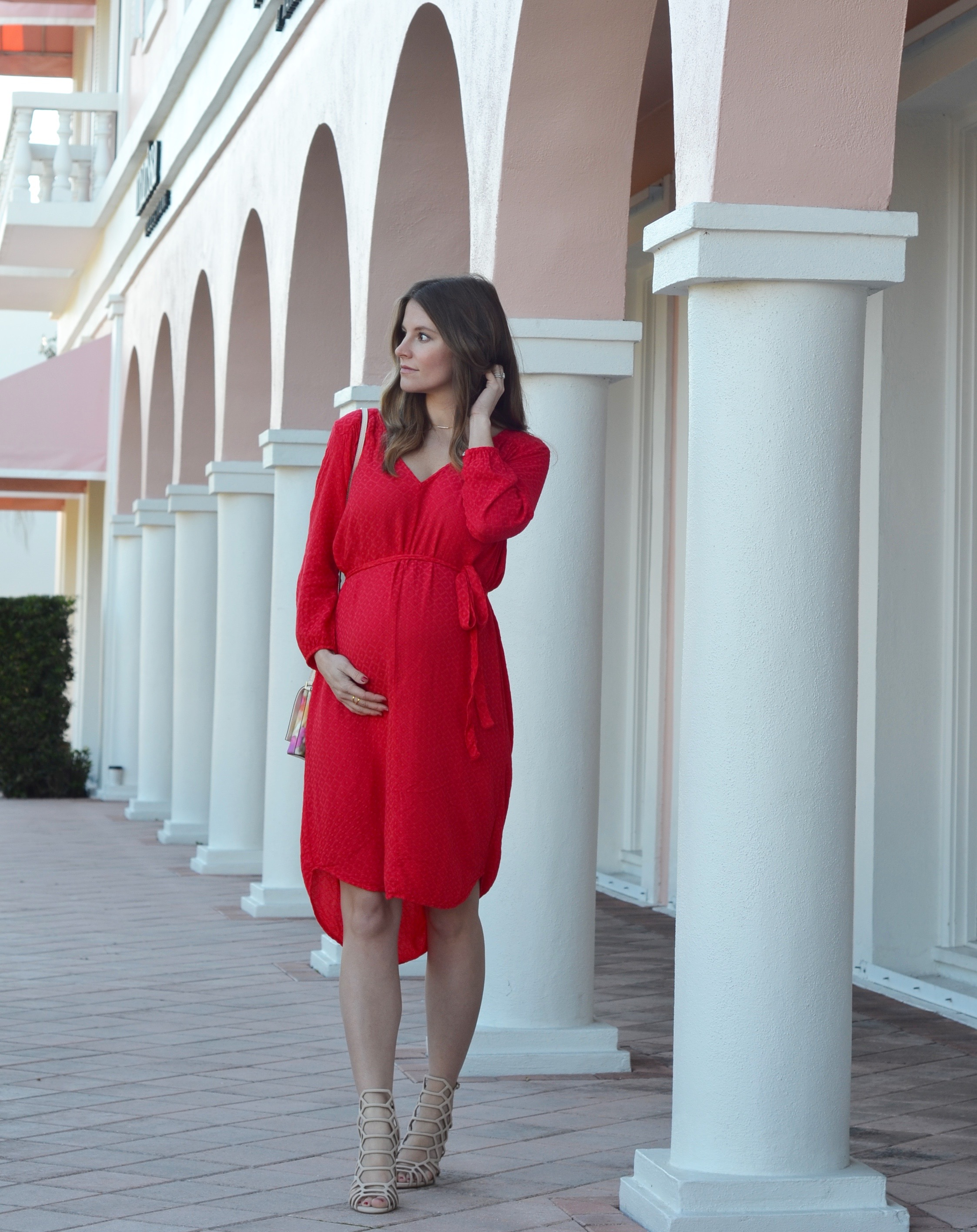 red dress valentines day outfit blogger