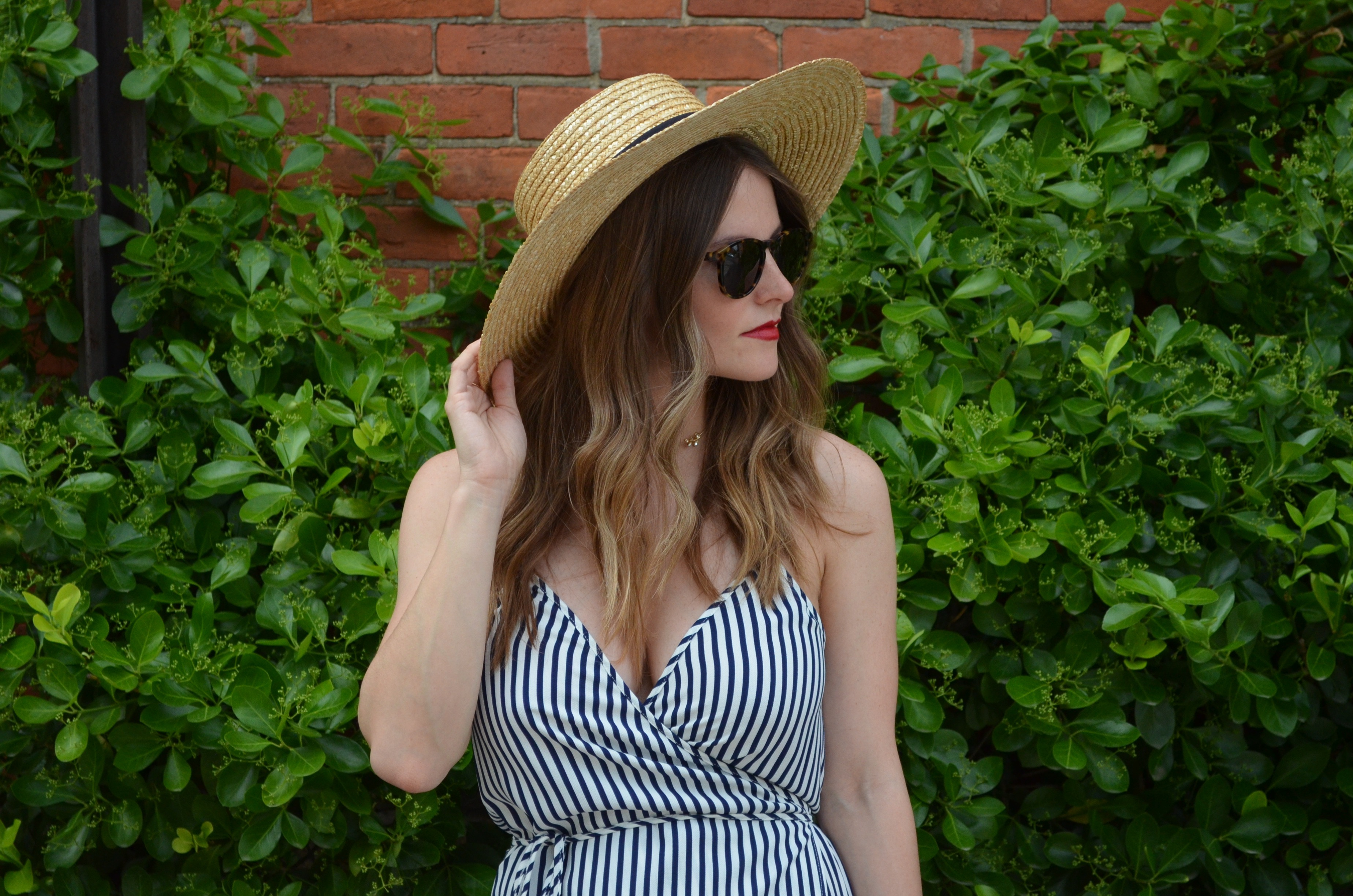 champagne in the rain blog summer stripe wrap dress