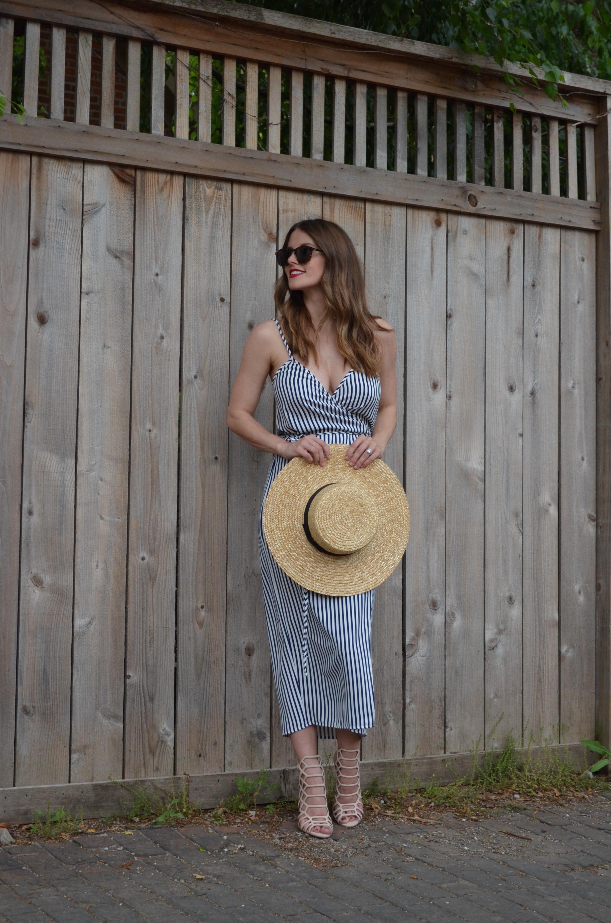 summer stripe wrap dress nordstrom