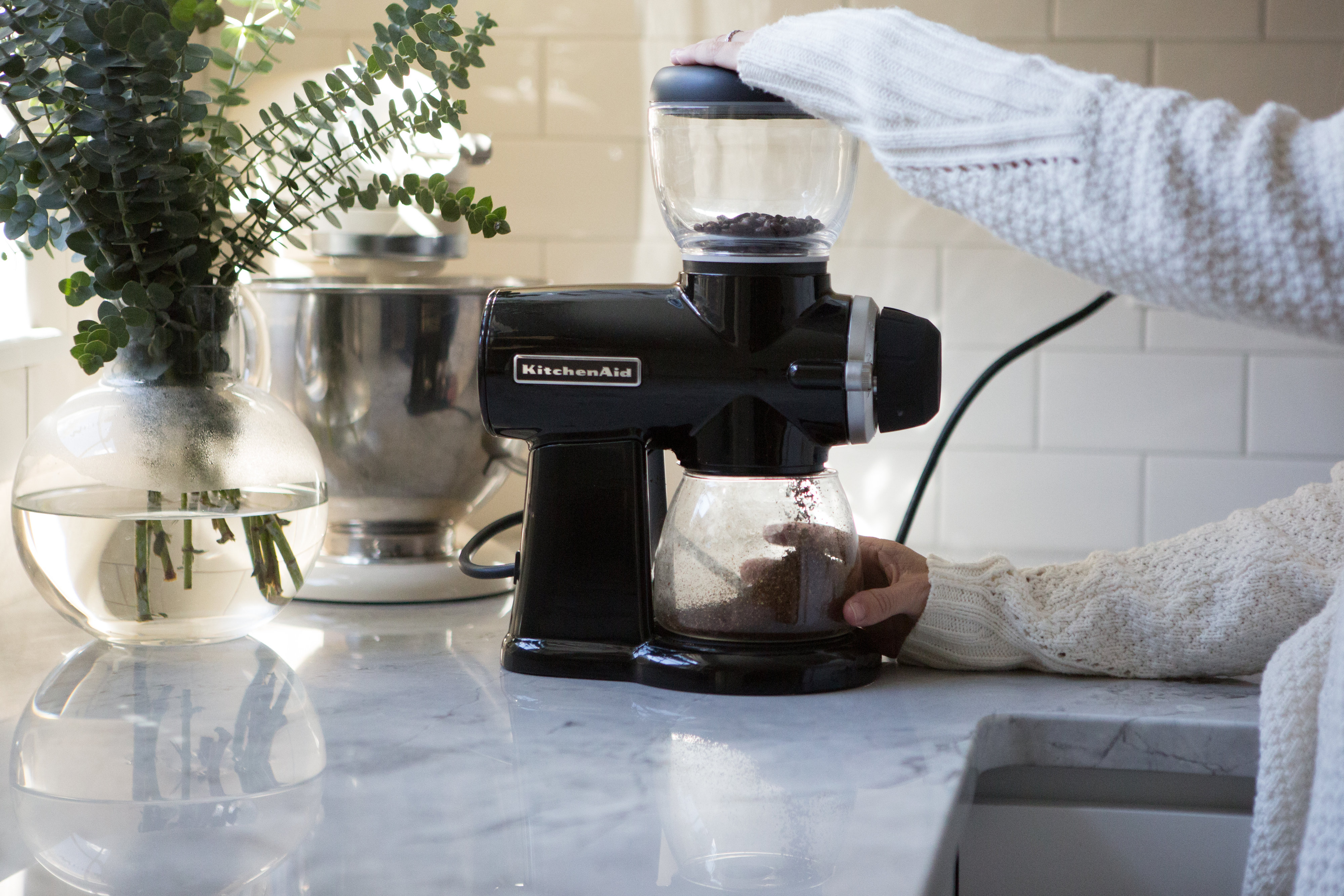 champagne in the rain kitchenaid coffee bean grinder