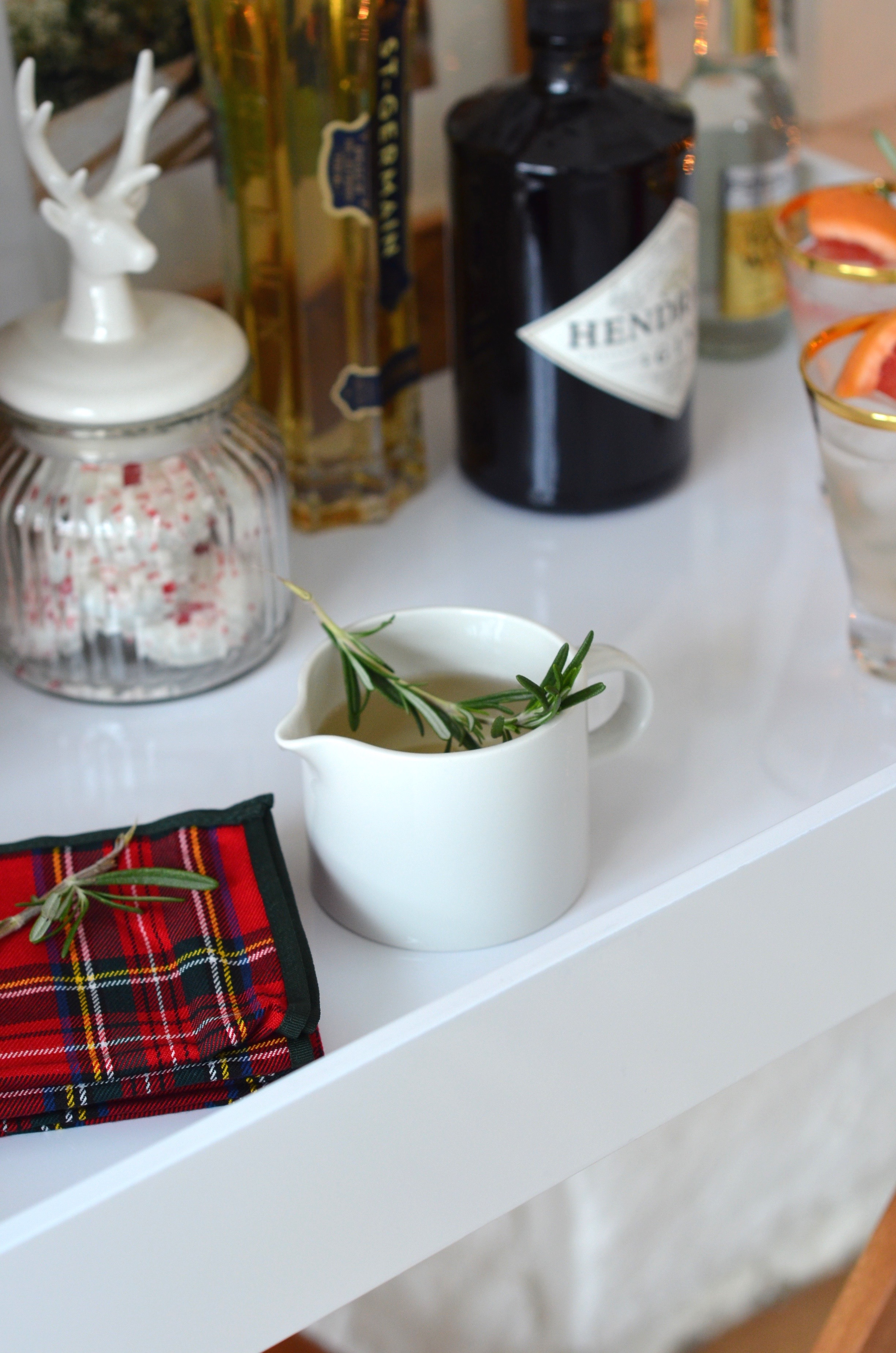 rosemary syrup holiday cocktail recipe