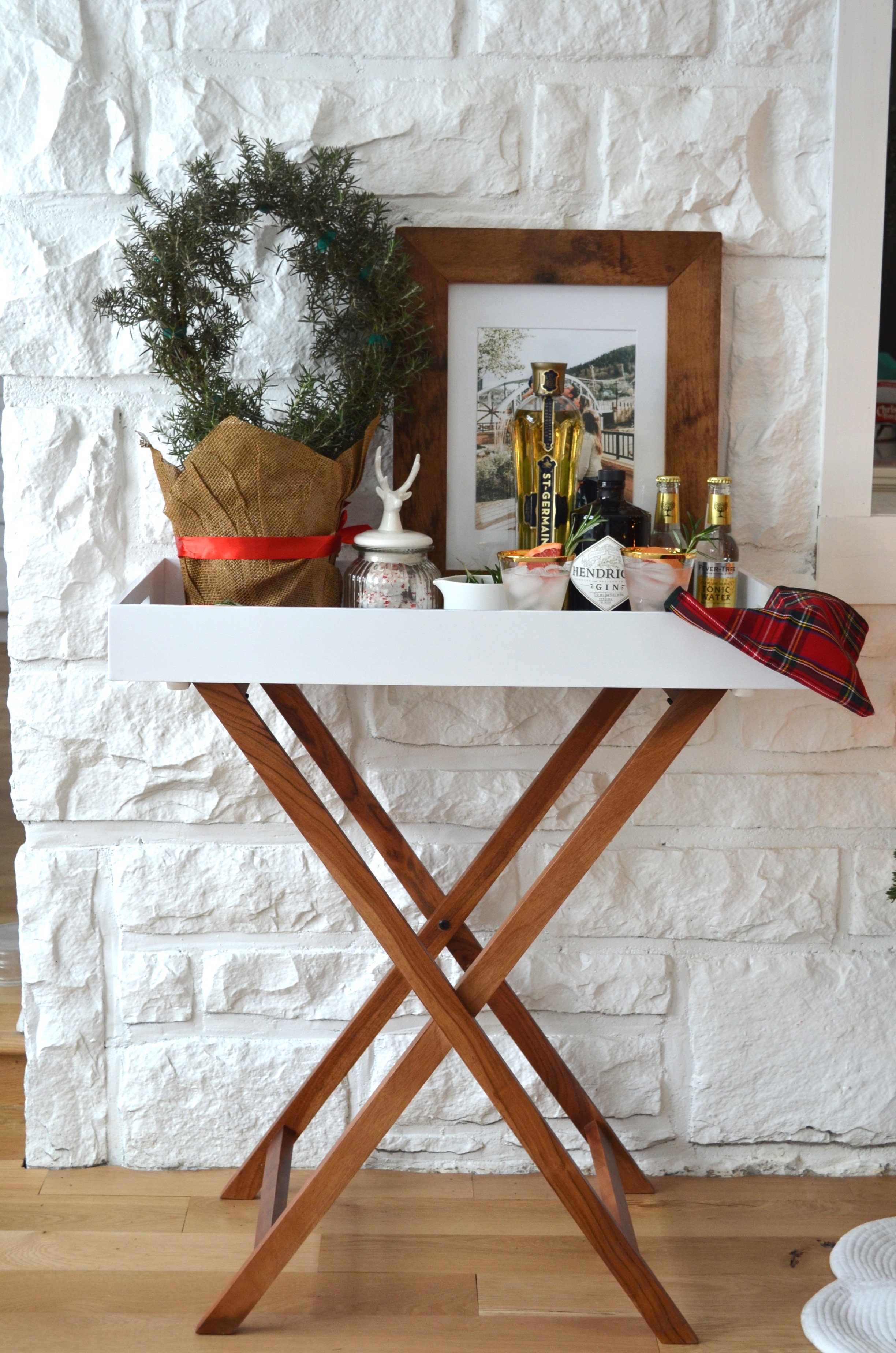 holiday bar cart decor inspo christmas