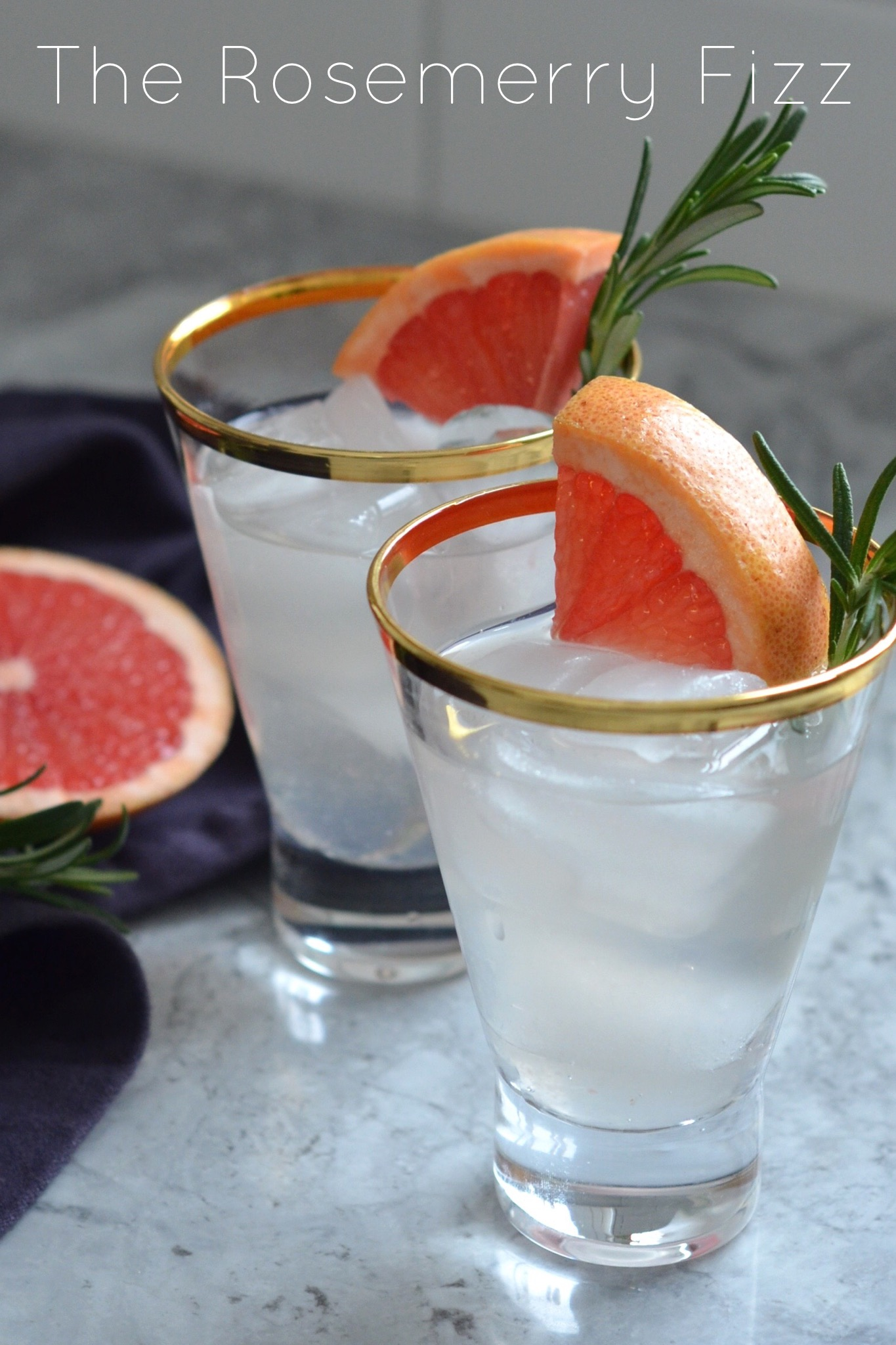 rosemerry fizz holiday cocktail recipe grapefruit rosemary
