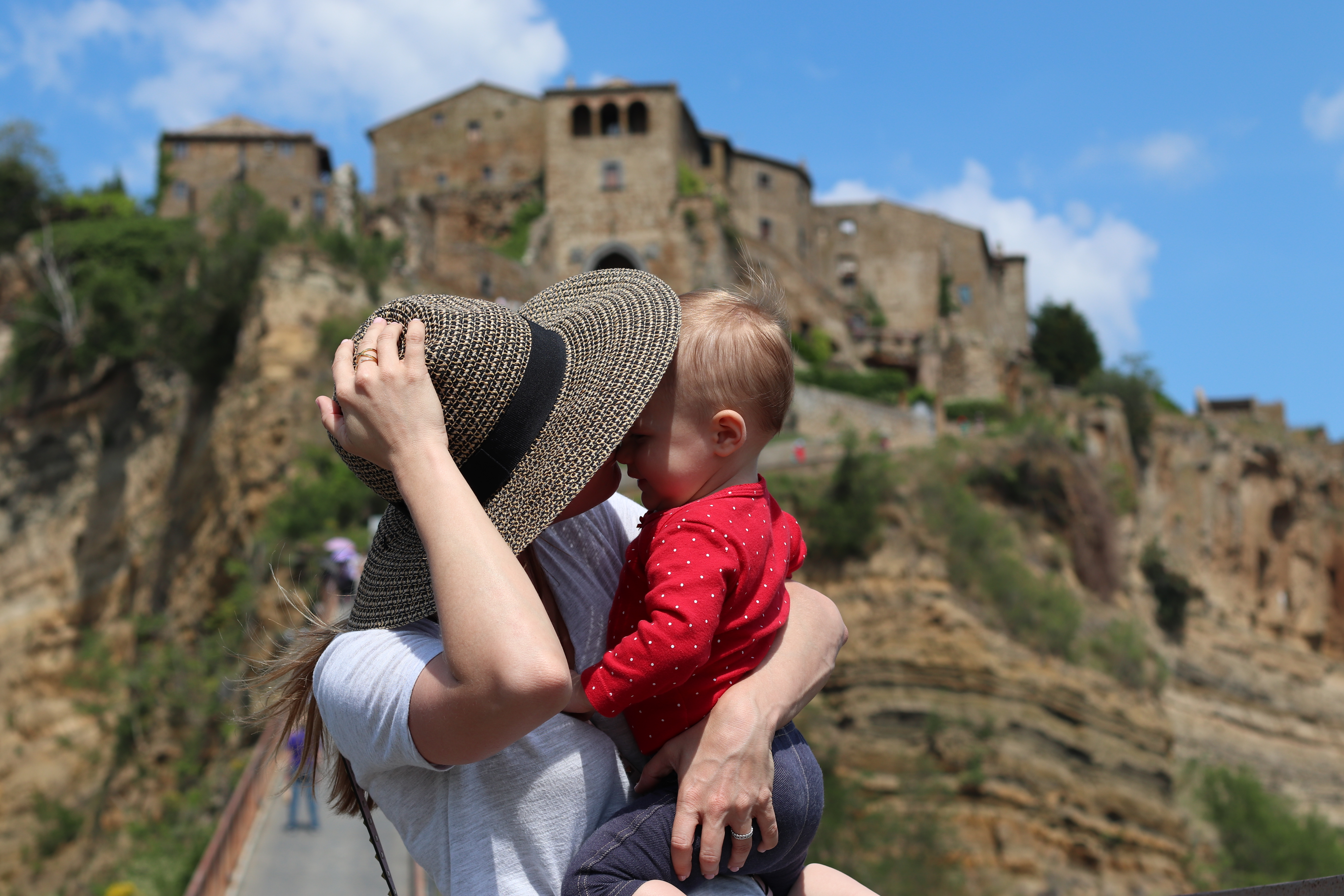 travel italy with a baby civita