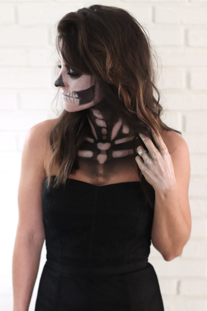 sexy skeleton makeup halloween costume