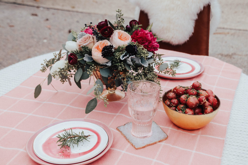 anthropologie table setting thanksgiving friends giving