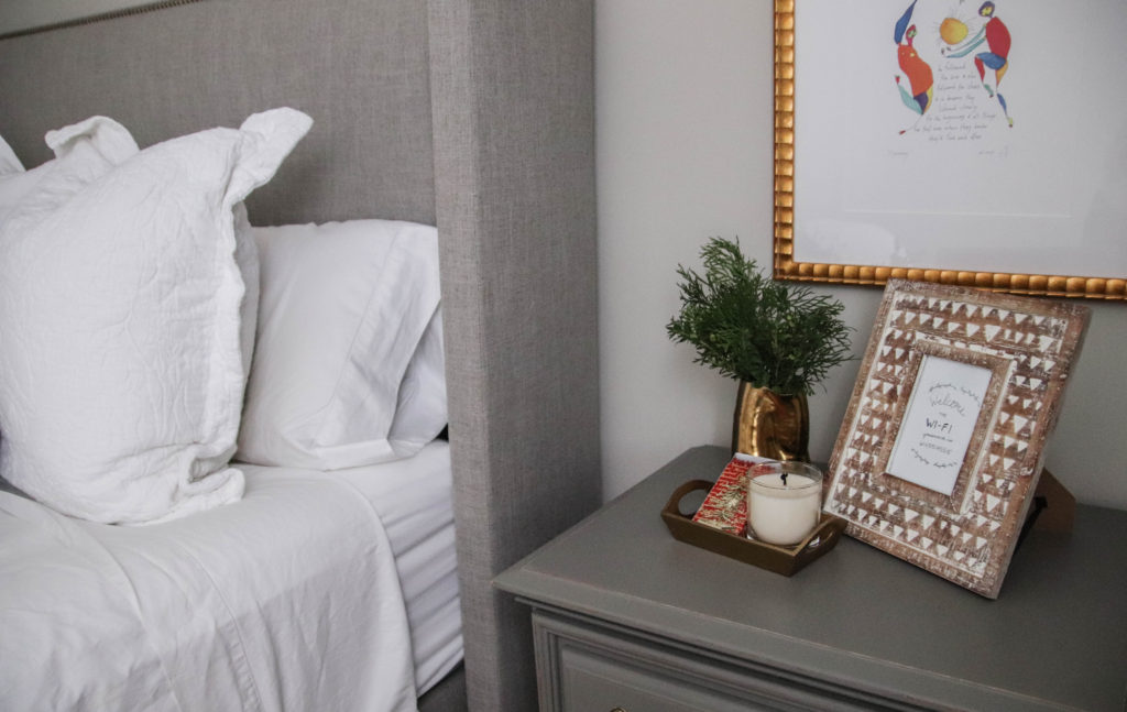 holiday guest room decor