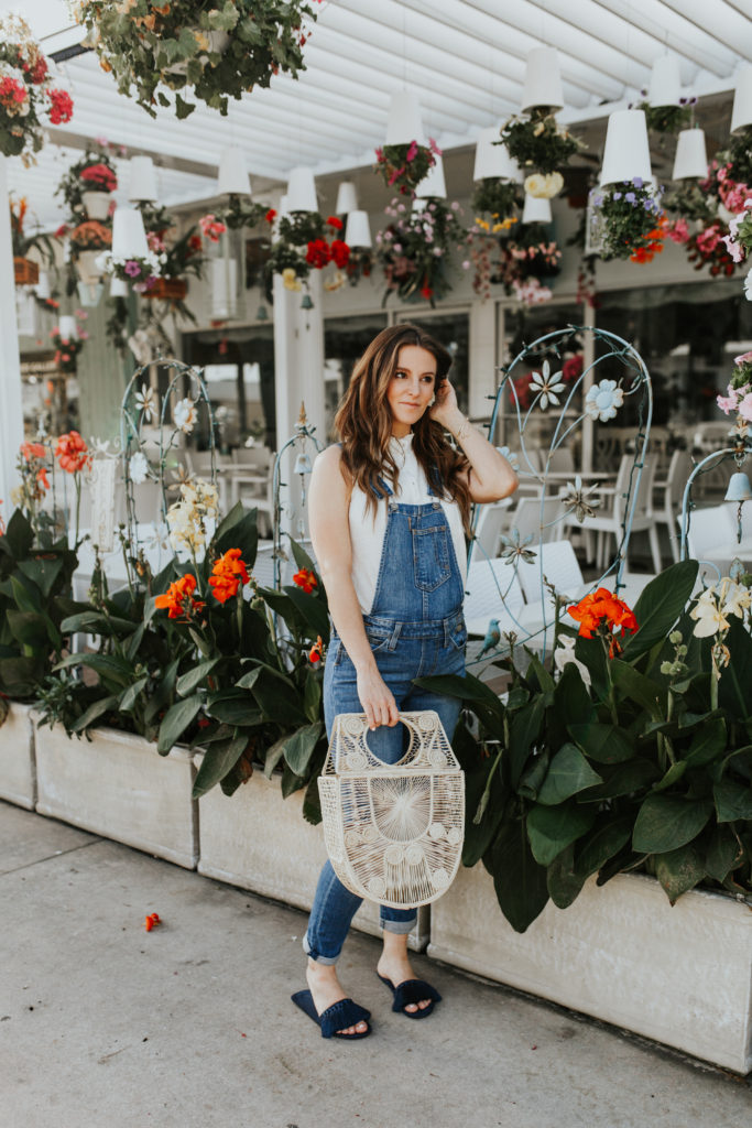 anthropologie birdcage bag levis overalls