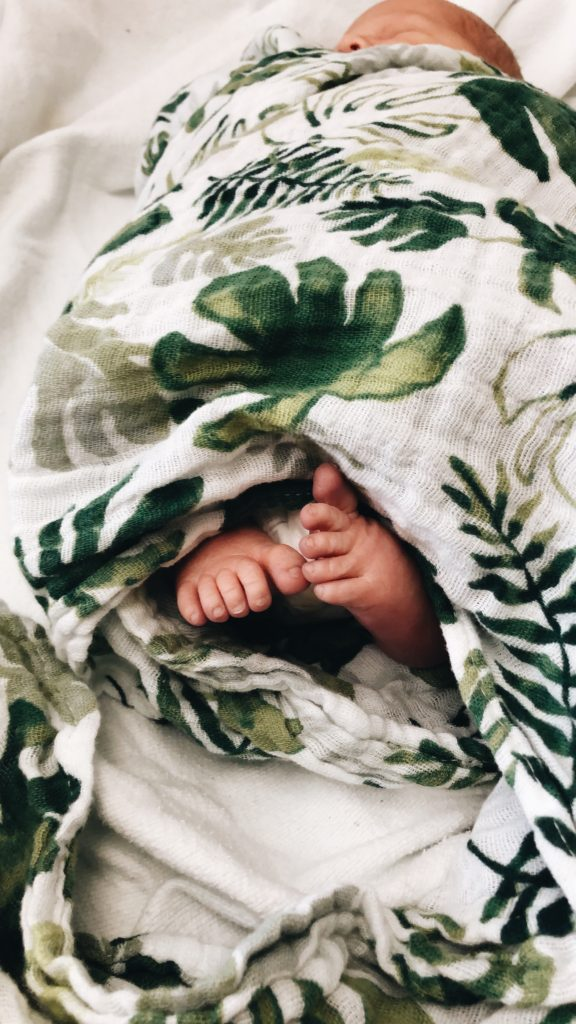baby feet little unicorn palm swaddle