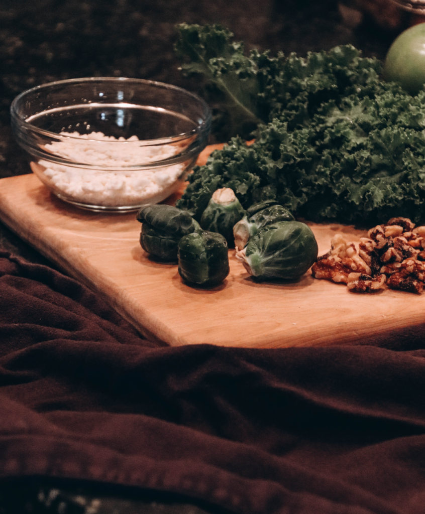 kale and brussel sprout chopped salad recipe