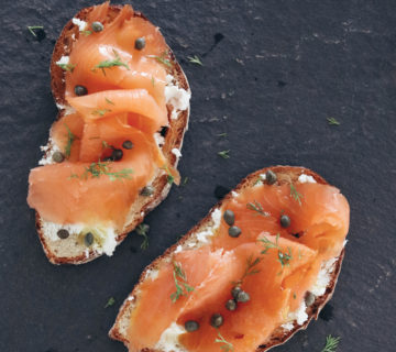 goat cheese lox toast recipe
